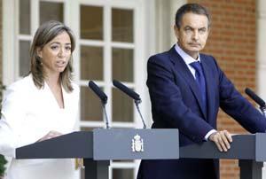 Chacón y Zapatero