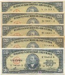 Peso nacional cubano
