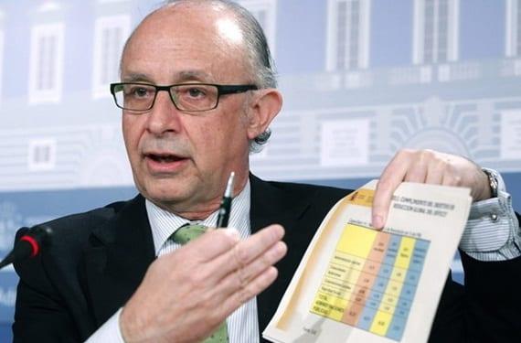 Ministro de Hacienda: Cristóbal Montoro