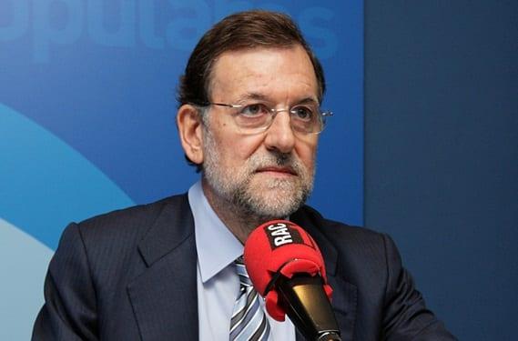 Rajoy durante una entrevista