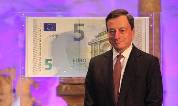 Imagen del nuevo billete de 5 euros