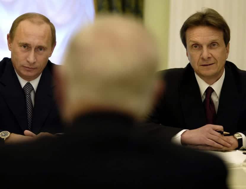 Vladimir Putin en una reunión