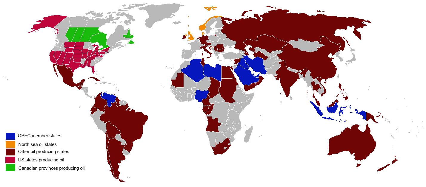 Países productores de petróleo