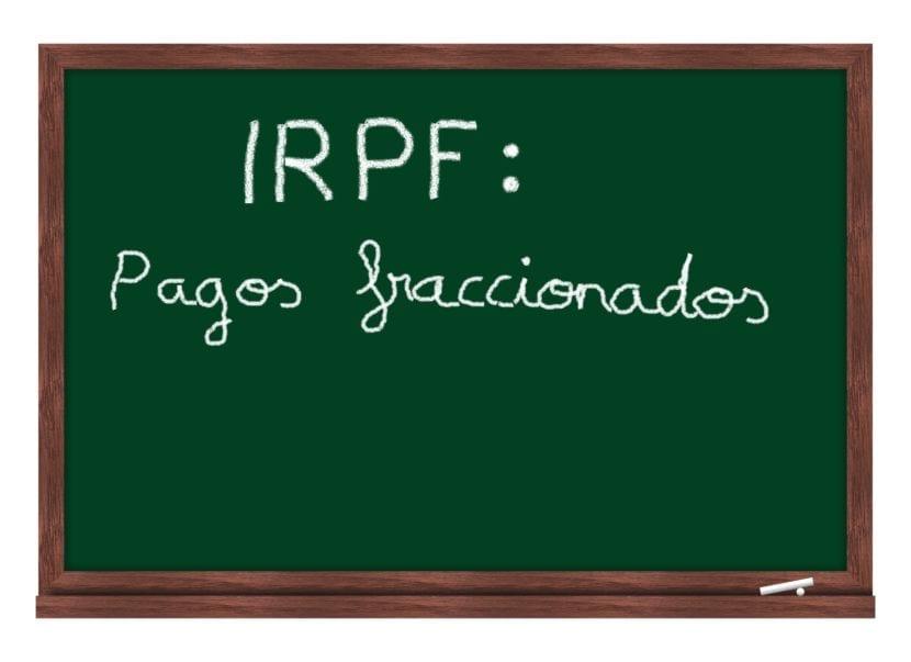 IRPF fraccionado
