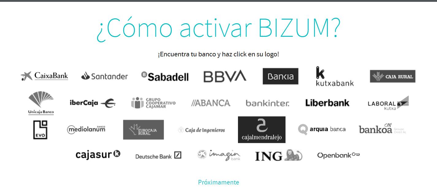 Qué bancos trabajan con Bizum
