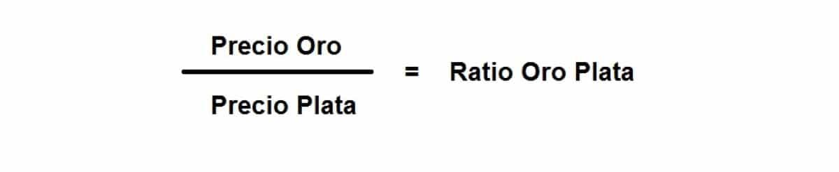 Fórmula para calcular el ratio oro plata